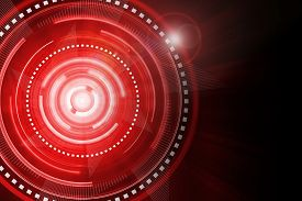 pic of time machine  - Abstract red lighting cog time - JPG
