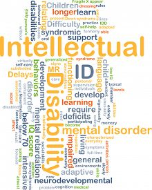 stock photo of retarded  - Background concept wordcloud illustration of intellectual disability ID - JPG