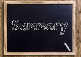 stock photo of summary  - Summary  - JPG