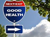 Good health road sign