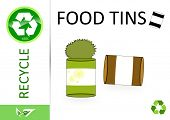 Please recycle food tins