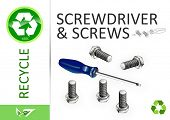 Please recycle screwdriver and screws