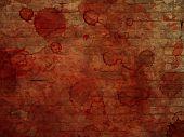 Bloody brick wall background
