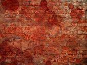 Bloody brick wall background