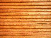 Log wall background