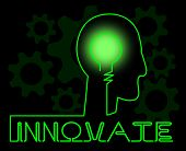 Innovate Brain Means Innovating Creative And Ideas poster