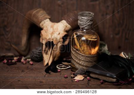 Vintage Witchcraft Still Life With