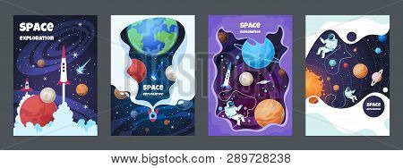 Cartoon Space Flyer Universe Galaxy