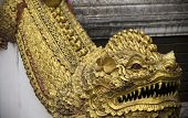 This Wat Chedi Liam Golden Dragon Resides In The Ancient City Of Wiang Kum Kam Just South Of Chiang  poster
