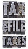 E-file Taxes - Tax Concept