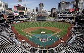 Panoramic view of the inside of San Diego's Petco Park, Home of the Padres baseball team.