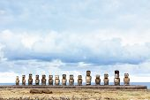 Ahu Tongariki In Easter Island