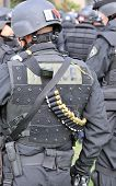 Riot Gear - police officers in protective uniforms