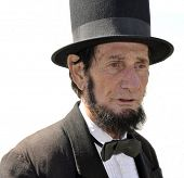 VISTA, CA - MAR 7: An Abraham Lincoln look-alike during a Civil War reenactment on March 7, 2009 in