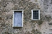 stock photo of 1700s  - Old windows on 1700s building - JPG
