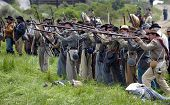 VISTA, CALIFORNIA - APRIL 17: American Civil War (1861-1865) is recreated by performers honoring the
