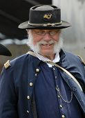 VISTA, CALIFORNIA - APRIL 17: American Civil War (1861-1865) is reenacted on a battlefield on April