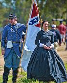 VISTA, CALIFORNIA - MARCH 5: American Civil War (1861-1865) is reenacted by actors honoring the loss