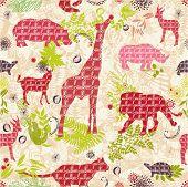 jungle paradise - seamless wallpaper