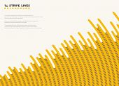 Abstract Mesh Dash Yellow With Black Stripe Lines Pattern Modern Design Background. You Can Use For  poster
