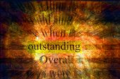 Outstanding - the word over a grunge background.