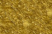 texture of golden foil close up view