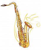 Ilustração em vetor editável saxofone