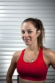 Young Fitness Training Woman