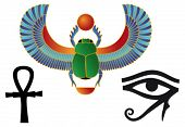 stock photo of ankh  - Set of egyptian icons - JPG