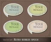 Vector illustration of retro bubbles speech
