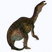 Lurdusaurus Dinosaur Tail 3d Illustration - Lurdusaurus Was An Iguanodont Ornithopod Herbivorous Din poster