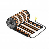 Floor Heater Equipment Icon. Flat Illustration Of Floor Heater Equipment Vector Icon For Web Design poster
