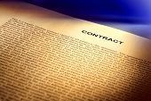 Legal Contract Document In Common Law English