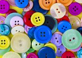 Sewing Buttons Background. Colorful Sewing Buttons Texture poster