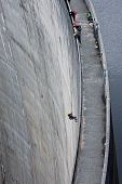 Abseiling On Gordon Dam In Tasmania