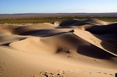 Sands dunes on gobi desert in Mongolia