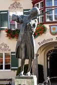 image of mozart  - Mozart statue on the sqare near the townhall in St - JPG