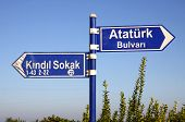 Direction Signs In Kemer, Turkey