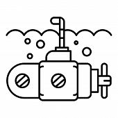 Guard Submarine Periscope Icon. Outline Guard Submarine Periscope Icon For Web Design Isolated On Wh poster