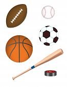 Realistic Vector Sports Equipment!