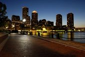 Boston Harbar At Night