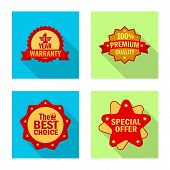 Vector Illustration Of Emblem And Badge Logo. Set Of Emblem And Sticker Stock Symbol For Web. poster