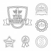 Isolated Object Of Emblem And Badge Logo. Set Of Emblem And Sticker Vector Icon For Stock. poster