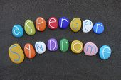 Asperger Syndrome, Developmental Disorder Of As, Illness Name Composed With Multi Colored Stones Ove poster