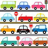 picture of beetle car  - A set of cute Vector Icons  - JPG
