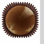 Illustration of an isolated cupcake top view