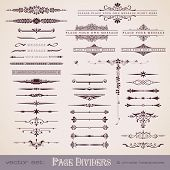 foto of divider  - large collection of page dividers and ornate headpieces - JPG