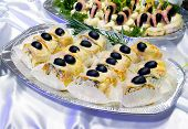 Catering Buffet Style - Flacky Pastry Rolls With Olives