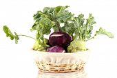 Fresh turnip isolated on white