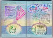 Asian Stamps In a Passport